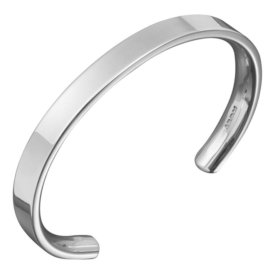 square silver mens jewelry s bracelet inch bangle solid anchor link bangles bling men