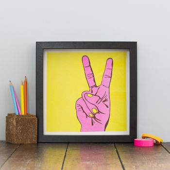 Peace Sign Neon Print