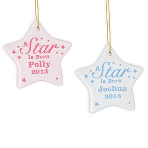 Personalised A Star Is Born Ceramic Hanging Decoration - decorative accessories
