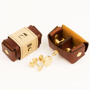 Solid Brass Cufflinks
