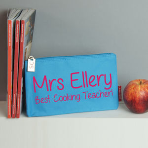 Personalised Best Teacher Pencil Case - stationery