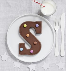 Chocolate Letter With Smarties - personalised