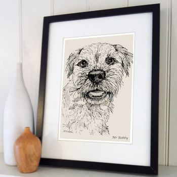 Personalised Pet Line Drawing