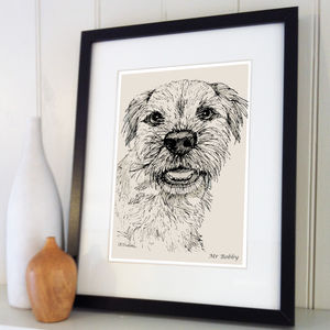 Personalised Pet Line Drawing - posters & prints
