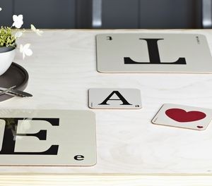 Scrabble Style Coasters - placemats & coasters