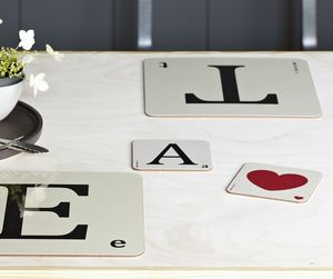 Scrabble Style Place Mats - dining room