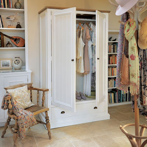 French Country Wardrobe With Drawers - furniture