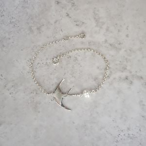 Sterling Silver Swallow Bracelet - women's jewellery