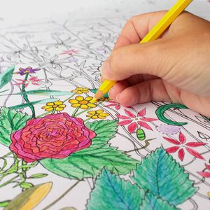 Colouring Flowers Poster