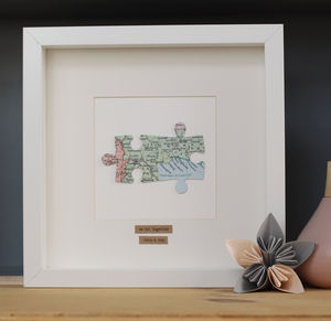 Personalised Anniversary Jigsaw Map Picture - children's pictures & paintings