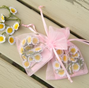 Set Of Five Silk Daisy Chain Gift Bags