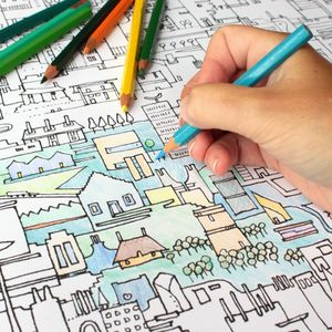 Colouring City Poster - books