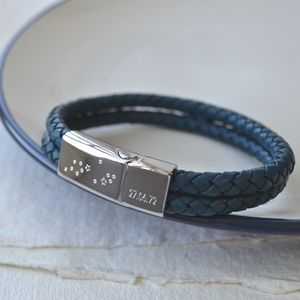Personalised Men's Constellation Bracelet - 50th birthday gifts