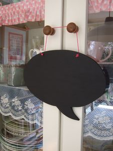 Speech Bubble Chalkboard - kitchen