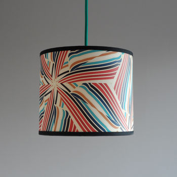 Helicopter design as a hanging lampshade