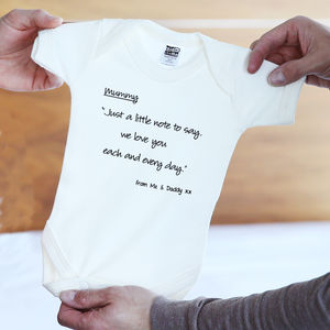 Mummy, 'I Love You' Rhyme - babygrows