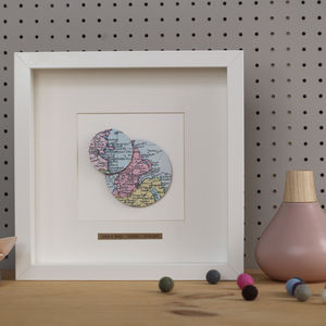Personalised Double Circle Map Picture