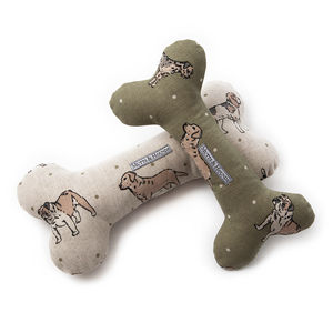 Dog Print Squeaky Bone Toys - dogs