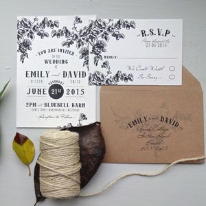 Barn And Branch Wedding Stationery - invitations