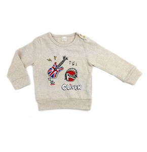 Personalised I Love Rock And Roll Baby Jumper