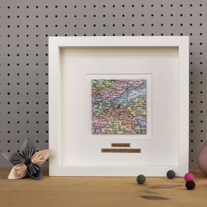 Personalised Square Map Picture - art & pictures