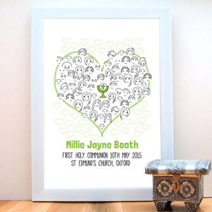 First Holy Communion Fingerprint 'Guestbook' - holy communion celebrations