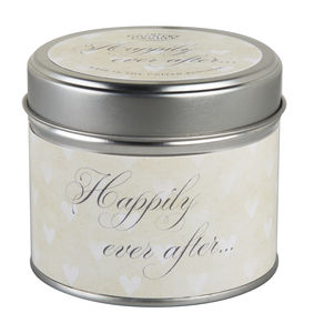 Wedding Day Candle 'Happily Ever After' Tin Candle