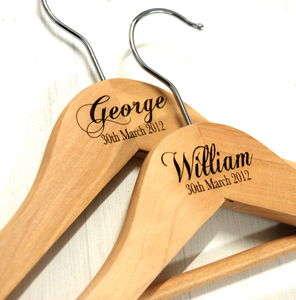 Personalised Christening Hanger - christening gifts