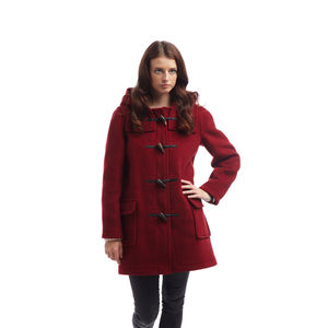 Women's Duffle Coat With Horn Toggles - women's fashion