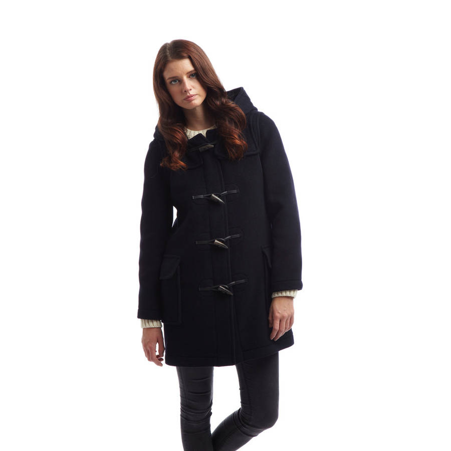 women 39 s duffle coat with horn toggles by original. Black Bedroom Furniture Sets. Home Design Ideas