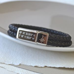 Mens Location Bracelet