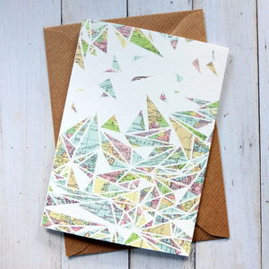 Traveller Map Geometric Note Card - view all sale items