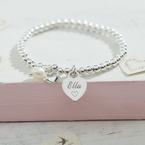 Personalised Sterling Silver Charm Ball Bracelet