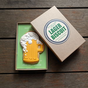 Pint Of Lager Biscuit - last minute father's day gifts