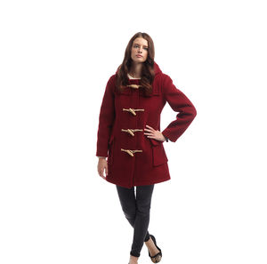 Women's Duffle Coat With Wooden Toggles - women's fashion