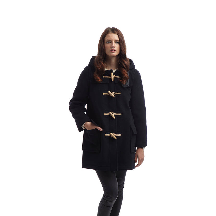 women's duffle coat with wooden toggles by original montgomery ...