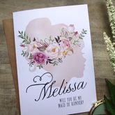 Watercolour Silhouette Bridesmaid Card - cards