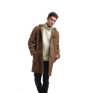 Men's Duffle Coat With Horn Toggles - coats & jackets