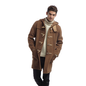Men's Duffle Coat With Wooden Toggles - coats & jackets