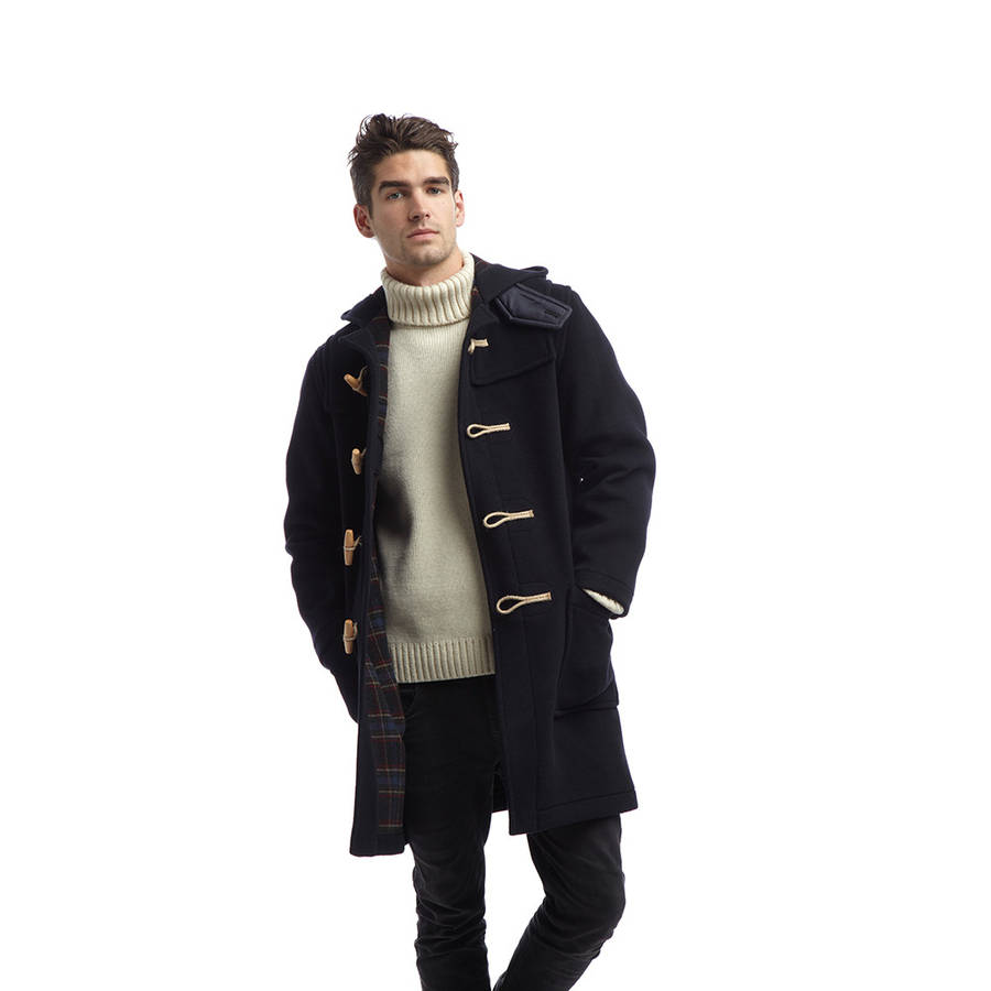 men's duffle coat with wooden toggles by original montgomery ...