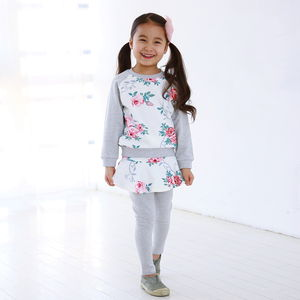 Girly Roses Children's Outfit Set