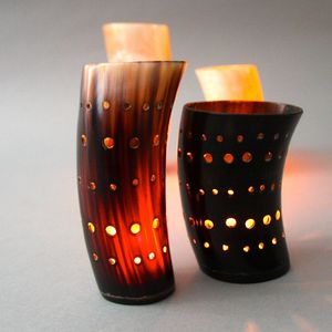Zenza Horn Tealight Holder - votives & tea light holders