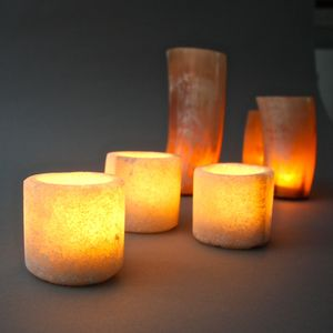Zenza Saltstone Tealight Holder Set Of Three - parties