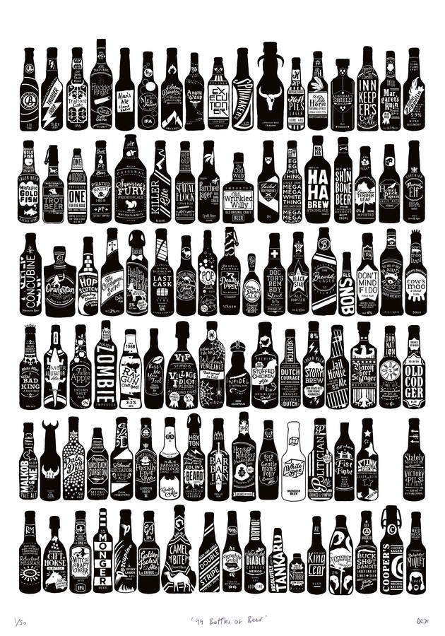 99 Bottles Of Beer On The Wall Art Print