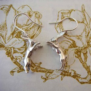 Boxing Hare Earrings
