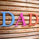 Dad Coloured Letters