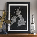 Typographic Map Of Great Britain