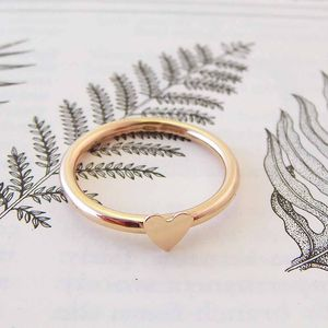 Rose Gold Heart Ring - unique engagement rings