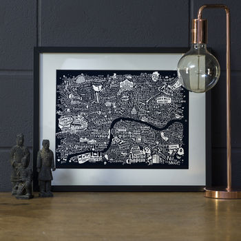 Typographic Central London Film Map