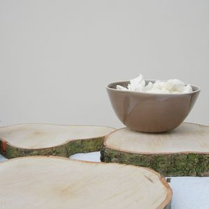 Birch Log Slice Centrepiece - table decorations